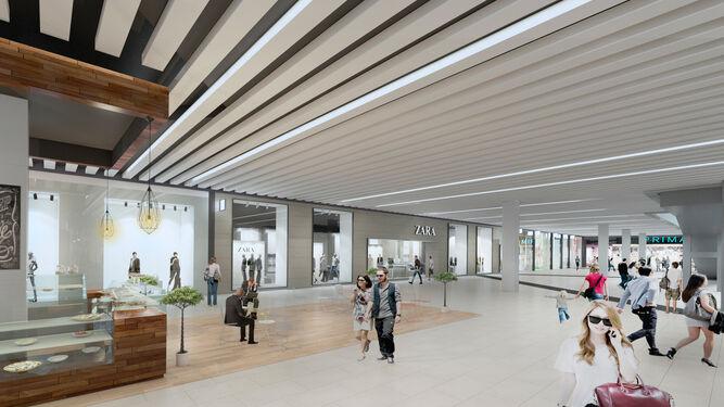 Infografía de la remodelación y ampliación de Zara en el centro comercial  Larios Centro. 2d5cec19ba39