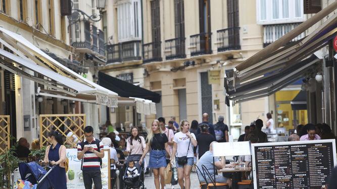 Imagen de archivo de varias de las terrazas del Centro histórico.