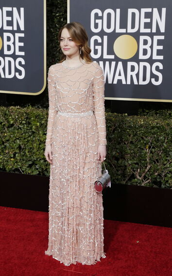 <p>Emma Stone, de Louis Vuitton.</p><br>