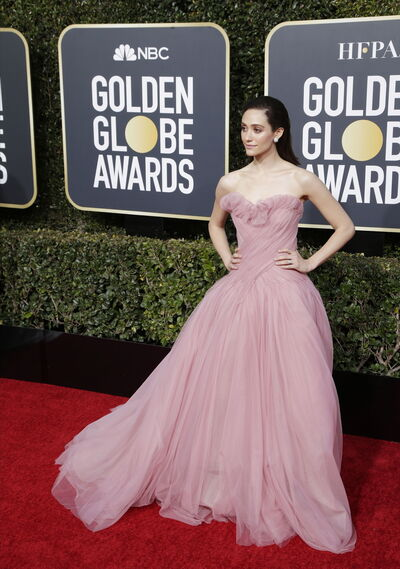 <p>Emmy Rossum, de Monique Lhuillier.</p><br>