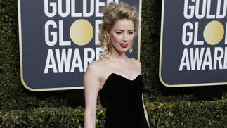 <p>Amber Heard, de Monique Lhuillier.</p><br>