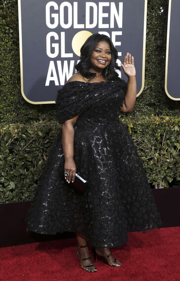 <p>Octavia Spencer, de Christian Siriano.</p><br>