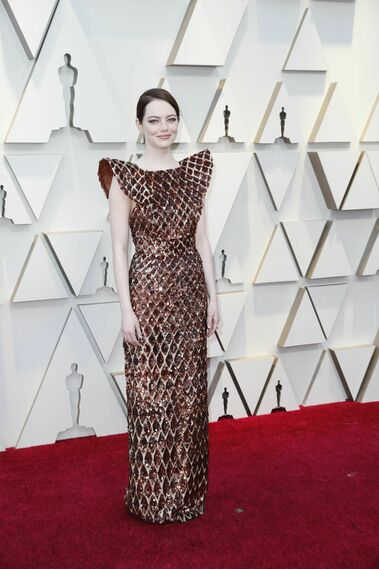 <p>Emma Stone, de Louis Vuitton</p>