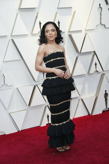 <p>Tessa Thompson, de Chanel</p>