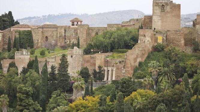 Vista de la Alcazaba de Málaga.