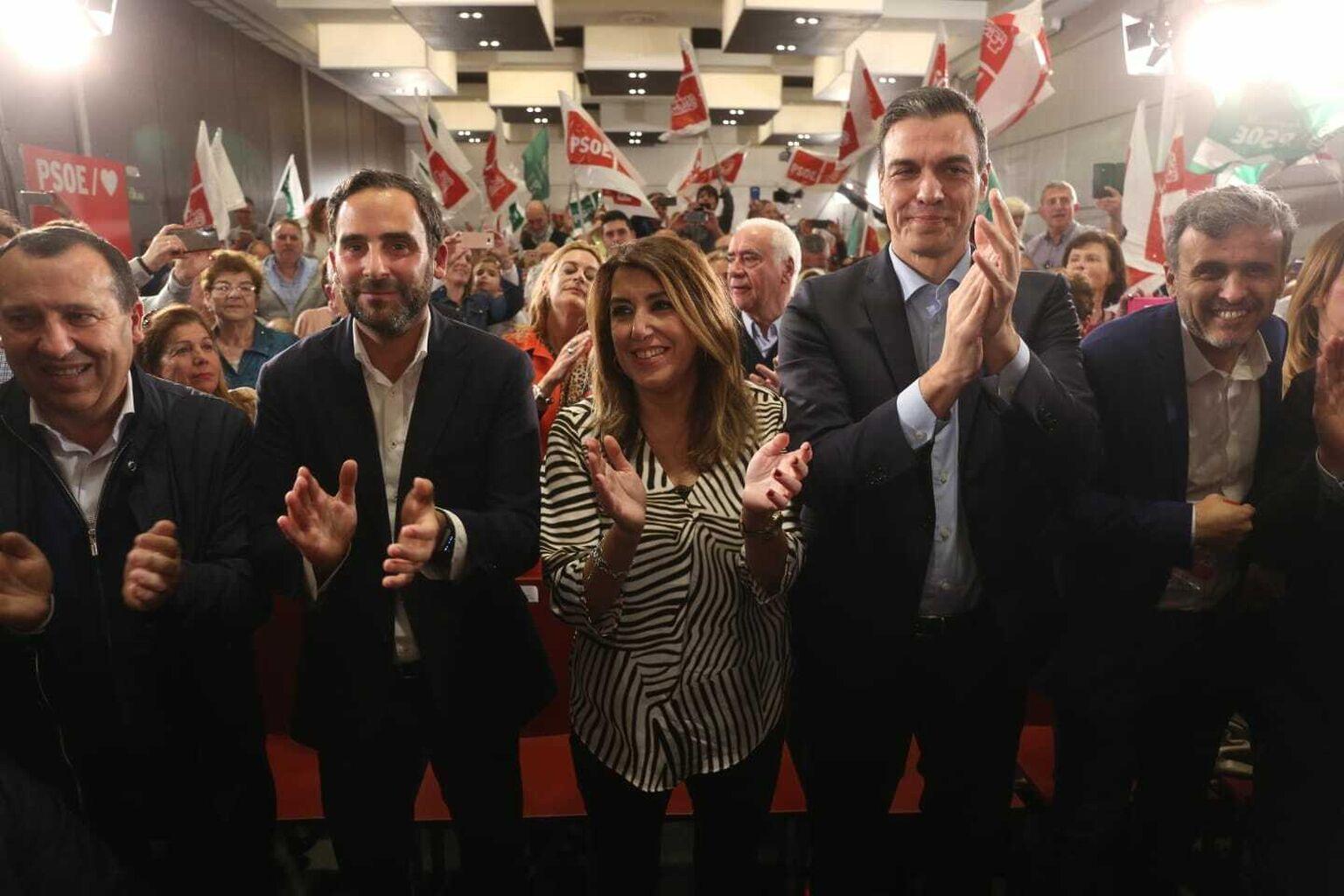 Resultado de imagen de Mitin en malaga 25 marzo PSOE