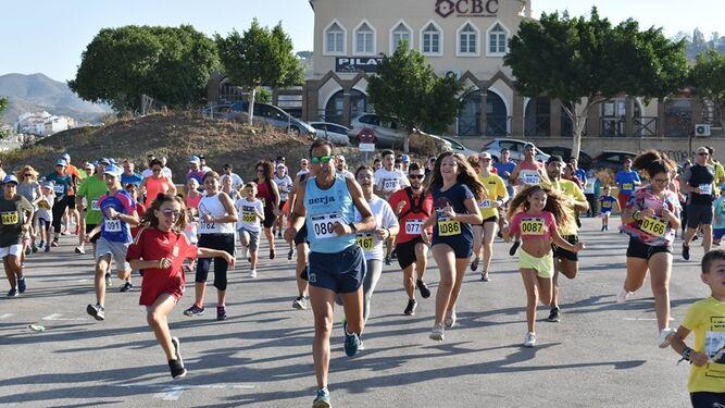 Participantes en la carrera celebrada el pasado 29 de septiembre en el Puerto de la Torre.