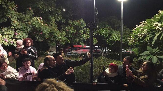 Selfie con Santiago Segura.