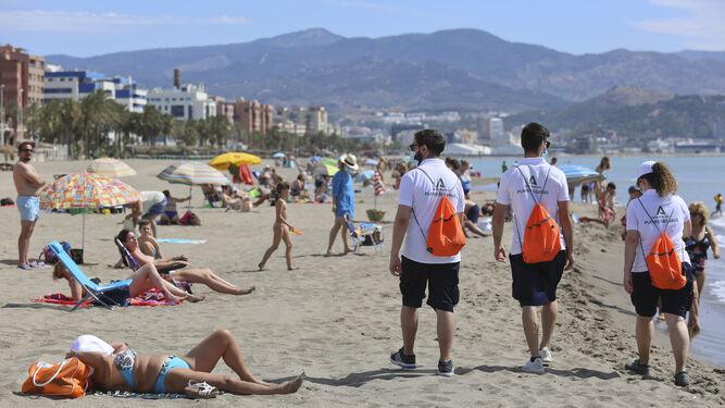 Desescalada Málaga: El turno de los vigilantes de la playa