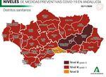 Los niveles de Covid en Málaga desde el martes 24: nivel 4 para toda la provincia, excepto en los di ...