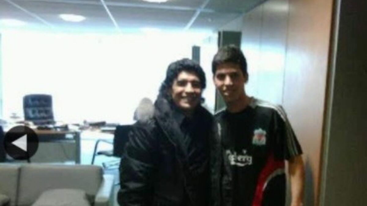 El mundo Málaga CF despide a Maradona