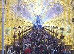 El gasto de las luces de Navidad en Málaga se dispara