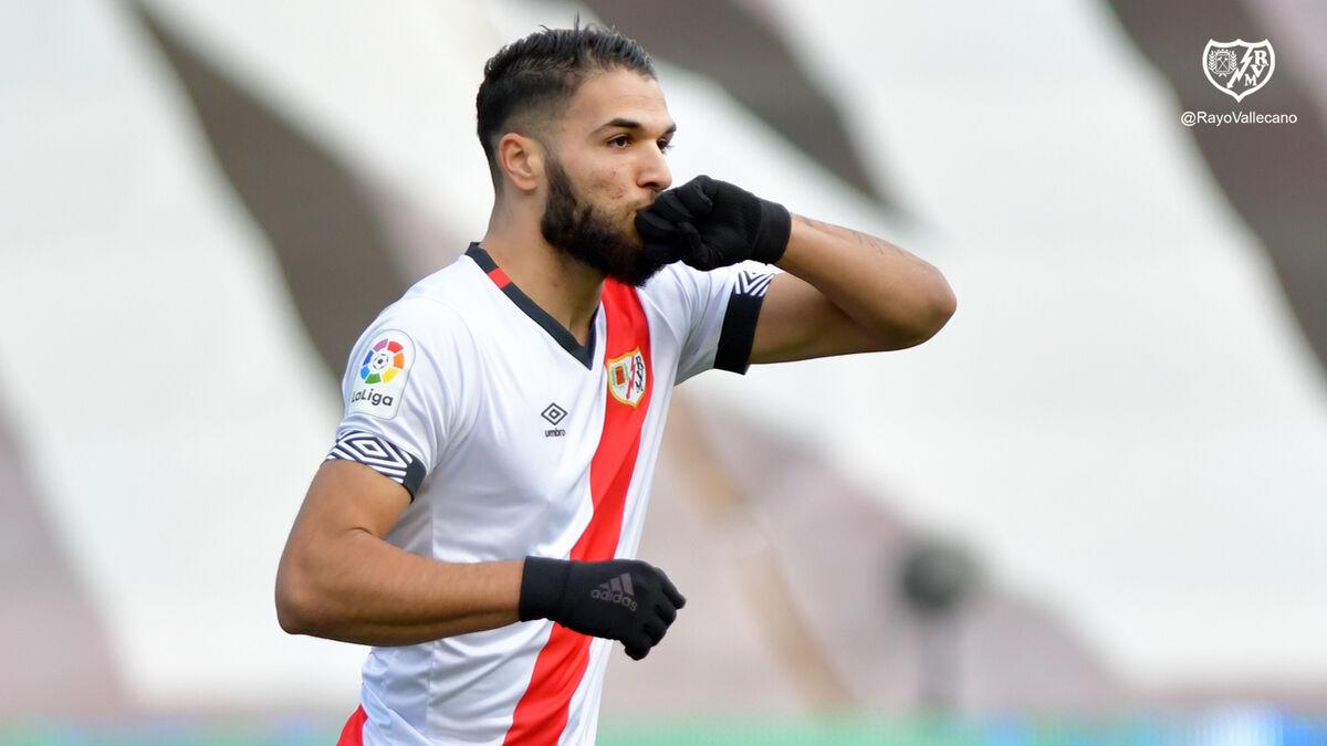 Málaga CF Antoñín está en alza en Vallecas