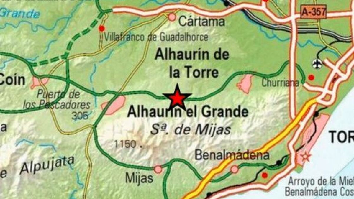 Registrado un terremoto con epicentro en Alhaurín el Grande