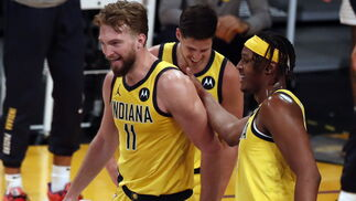 Las fotos de Domas Sabonis en el Los Angeles Lakers-Indiana Pacers