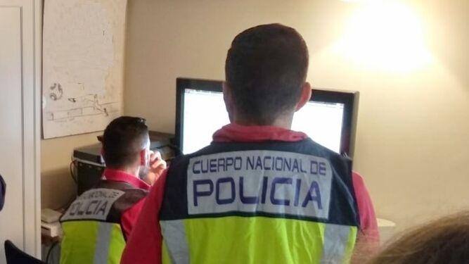 El grupo de Ciberdelincuencia de la Comisaría Provincial de Málaga.