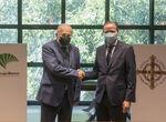 Unicaja renueva su acuerdo con la Agrupación de Cofradías de Málaga