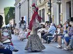 El desfile de moda flamenca en el...
